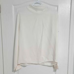 Uniqlo white long sleeve blouse